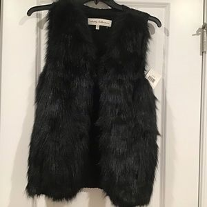 Women's Faux Fur Vest, NWT.  Med Sebby Collection
